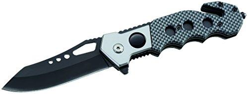 ATK Messer Rettungsmesser Officer Carbon-Optik Länge geöffnet: 20.3cm, grau, M