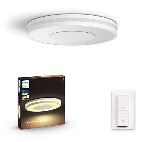 Philips Hue – Lámpara inteligente, Hue Being, Plafón LED Inteligente, Luz Blanca de Cálida a Fría, Compatible con Alexa y Google Home, Color Blanco