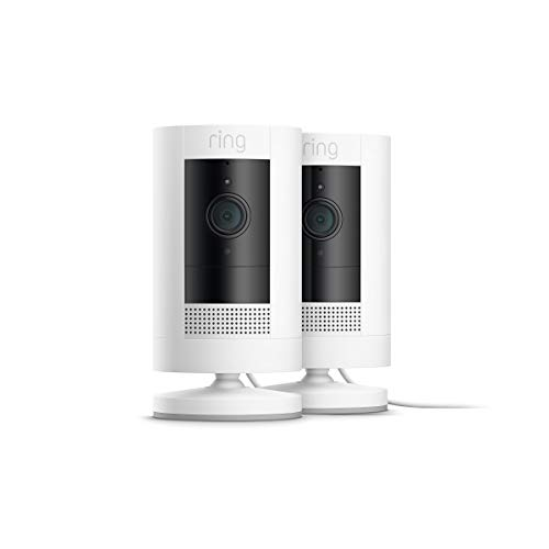 All-new Ring Stick Up Cam Plug-In HD security camera with two-way talk, Works with Alexa  2-Pack