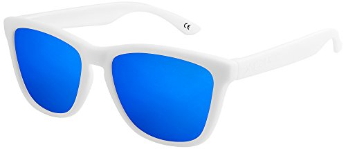 X-CRUZE® 9-018 Gafas de sol Nerd polarizadas estilo Retro Vintage Unisex Caballero...