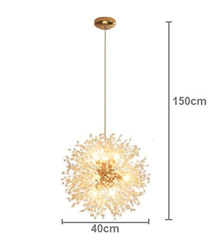 Dellemade Sputnik Kronleuchter 8-Licht Golden Luxuriöse Pendelleuchte für Schlafzimmer, Wohnzimmer, Esszimmer - 7