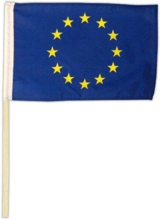 Fahne Flagge Europa 30 x 45 cm mit Stab