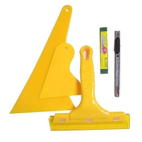 Auto Foil Schraper Tool Kit 5 Pack Auto Bescherming Scratch Film Raam Wikkel Film Tint Applicator Auto Glas Film Tool Auto Kleur Film Schraper Tool Set Tool Kit Auto Foil Schraper Auto Folie Tool Kit