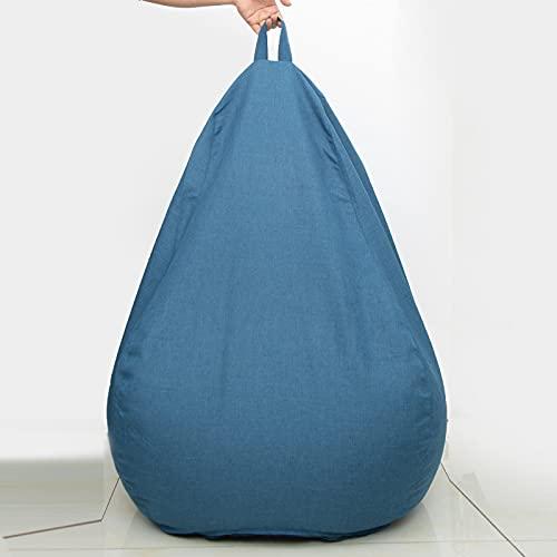 AGVER Funda para Sillón Puff Cubierta De Sillón Sofá Perezoso Sillón Hinchable Beanless (Sin Relleno),Azul