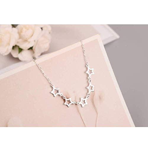 N/C Collar de Plata Collar de Calavera Simple Collar de Novia Cadena Femenina...
