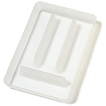 Koziol 5210535 Bac à Couverts, Plastique, Transparent, 31,8 x 21 x 4,6 cm
