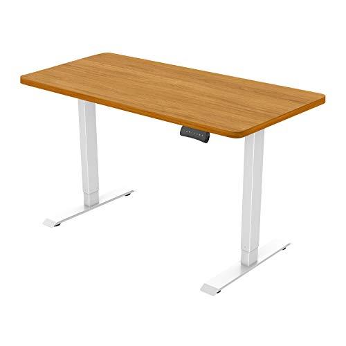 Flexispot ED2 Elektrisch Höhenverstellbarer Schreibtisch .Mit Memory-Steuerung und Softstart/-Stop. (Weiß+Ahorn)