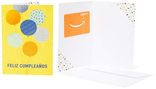 Tarjeta Regalo Amazon.es - Tarjeta de felicitación Globos de cumpleaños