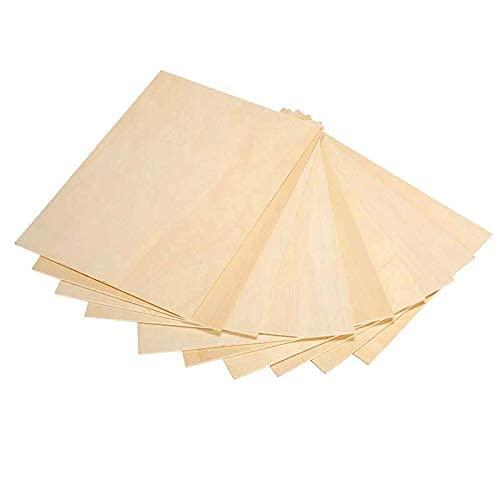 LAC 10 x A4 Panneau en bois brut de bouleau | 300 x 210 x 3 mm | Bricolage Table Baltique | Idéal pour pyrographie, découpe laser, CNC Routeur, modélisation, perforé