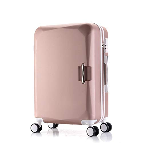 Mdsfe ABS + PC travel suitcase trolley Rolling luggage 20 '' carry on Cabin suitcase spinner wheels 26 big luggage bag Women luggage men - rose gold, 22'