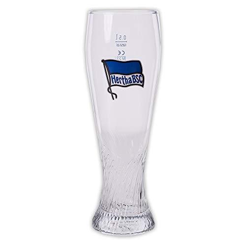 Hertha BSC Berlin Weizenbierglas Logo blau-weiß, Glas, Bierglas, Weizenglas - Plus Lesezeichen I Love Berlin