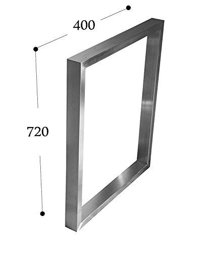 CHYRKA Estructura para tableros de Mesa Diseno pie de Mesa Acero Inoxidable 201, Comedor Mesa Estructura Pata (720x400 mm - 1 Pieza)