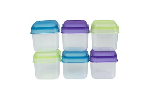 Evriholder Portion Snack Containers, Multicolor