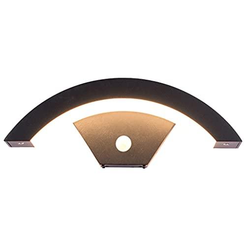 B Blesiya Applique da parete a LED con sensore di movimento, lampada da parete impermeabile per esterni a luce calda, rilevatore di movimento Luce per portico - 18W
