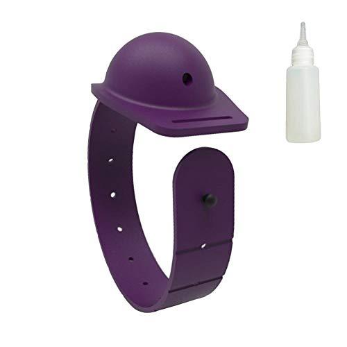 Dispensador de mano de pulsera, dispensador portátil de silicona portátil, dispensador de gel de lavado de mano recargable, botella de jabón líquido, para actividades al aire libre