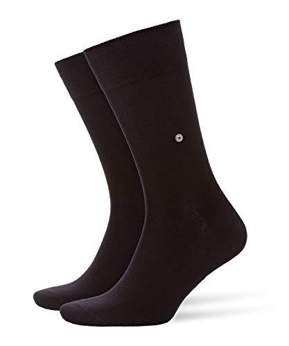 Burlington Socken Everyday 2-Pack Baumwolle Herren schwarz grau viele weitere Farben verstärkte Herrensocken ohne Muster atmungsaktiv dünn & einfarbig ONE-SIZE-FITS-ALL als Geschenk 2 Paar
