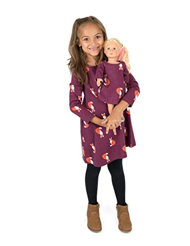 Leveret Kids & Toddler Matching Doll & Girls Dress 100% Cotton Fox (Size 8 Years)