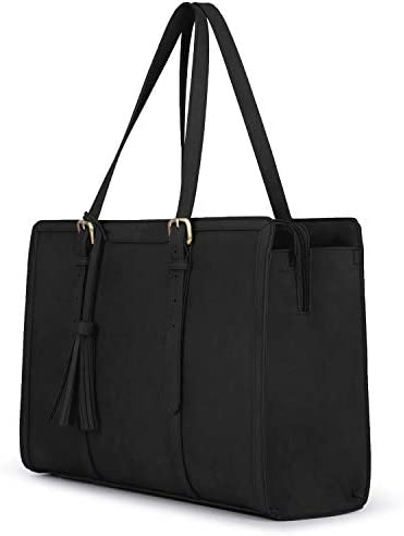 ECOSUSI Laptop Tote Bag for Women Fits Up to 15 6 Inch PU Leather Briefcase Office Handbags product image
