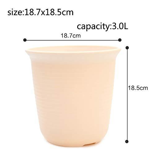 Balcon Bonsaï Rond Plastique Pot de Fleur Indoor Créatif Personnalité Plantes en Pots Petit Pot de Fleurs-A 3L