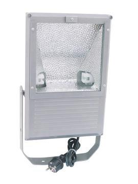 showking–Outdoor Faro flacha 230V/150W, Ampio Angolo (WFL), IP65, Corpo in Alluminio, Argento–Illuminazione da Giardino/facciate Illuminazione