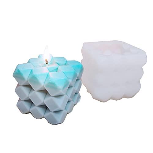 SHURROW Molde de Silicona epoxi para Pastel de Fragancia de Vela Hecha a Mano 3D, Molde de fabricación de Velas de Bola de Nudo de torsión