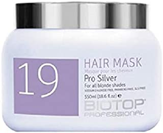 Biotop 19 Hair Mask Pro Silver for All Blonde Shades Parabens Free SLS Free 550ml 18.6fl.oz