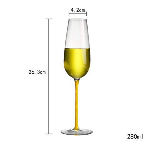 Ltong Rode wijnglas transparant kristalglas beker groterode wijnglas Europese en Amerikaanse kleur champagne beker 2 stokken, 2 stuks 920013
