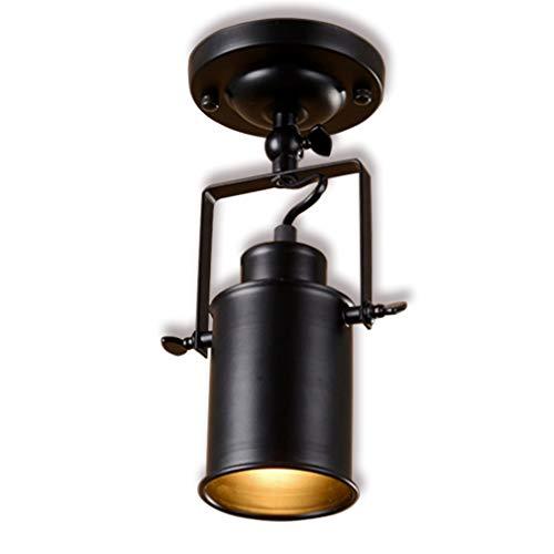 Spot de plafond LED 1-Flame Retro Vintage Spotlight Plafond Spot Lampes d'intérieur pivotantes Wall Spot Industriel Noir Éclairage Réglable Éclairage Salon Bar Comptoir Café Bar Magasin de Vêtements