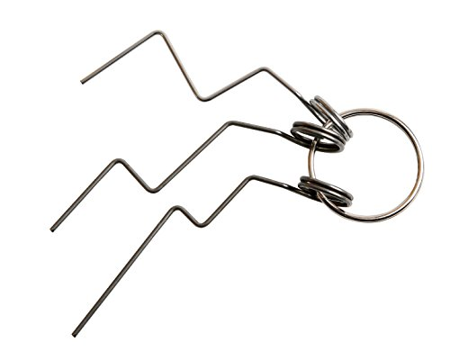 Multipick Profi Türfallen-Öffnungsnadel-Set 3-tlg.- öffnet nahezu jede Tür - Türfallen Werkzeug Dietrich-Set für den harten Schlüsseldienst Einsatz – langlebig - ölgehärtet - gratfrei
