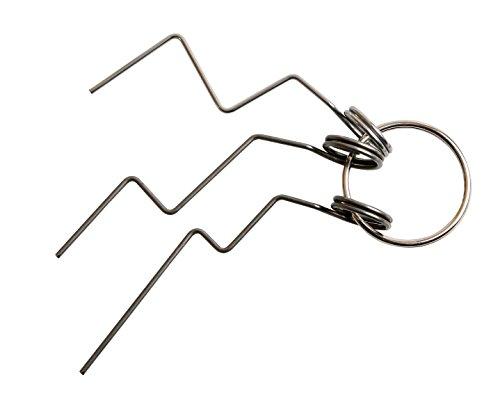 Türfallen-Öffnungsnadel-Set 3-tlg. - Profi Dietrich Werkzeug-Set für den Schlüsseldienst