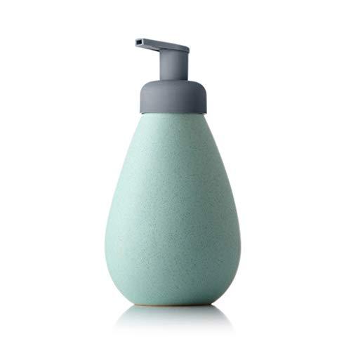 Dispensador de jabón de baño Dispensadores de jabón de espuma de espuma de cerámica minimalista nórdico desinfectante para manos Shampoo Shower Gel Loción Dispensadores de jabón de loción 700ML Dispen