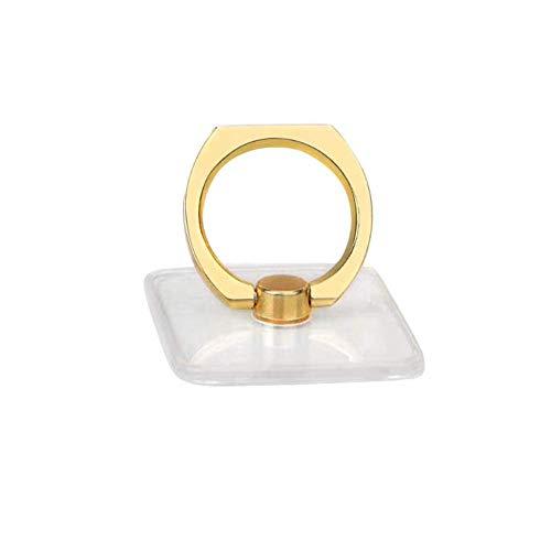 Sprint4deals Cell Phone Ring Holder, Phone Ring Grip Holder, Adjustable 360° Rotation Finger Ring Stand for Smartphones Tablets (HS-Golden)