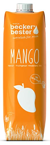 beckers bester Mango-Nektar - 6er Pack - mit Direktsaft - Co2-neutral hergestellt – Vegan – Ohne Gentechnik – Glutenfrei – Laktosefrei - (6 x 1000 ml)