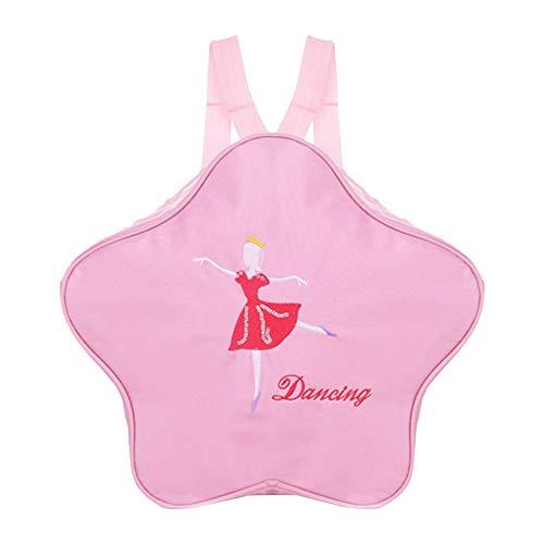 Xingyue Bolso de Ballet para Niños - Bailarina de Color Rosa Lleve la Mochila Bailarina Bolso Impermeable para Niños Pequeños Bolsa Portátil para Niñas Bordado para Zapatos de Ballet Falda