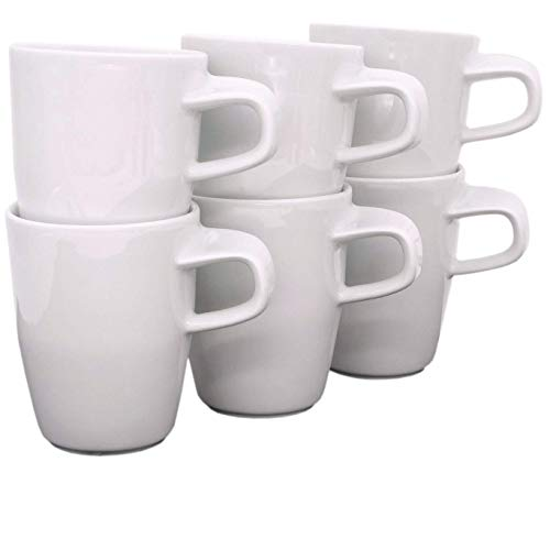 Kahla 15G111A90015C Elixyr Becher-Set für 6 Personen weiß modern Kaffeebecher 6-teilig 350 ml Henkelbecher Porzellanbecher Set Tee Kakao Tassenset