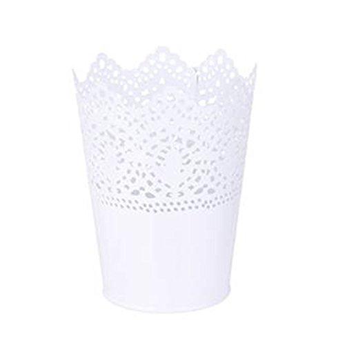 ROSENICE Pot crayon Pot de Fleur Organisateur de Pinceau de Maquillage (Blanc)