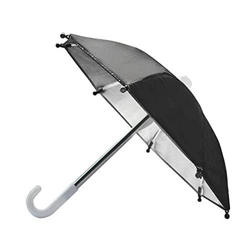 Deesen Paraguas de La Motocicleta, Paraguas del TeléFono MóVil, Paraguas Decorativo, Paraguas, Paraguas PláStico Negro, A