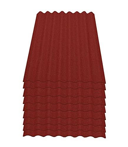 Onduline Easyline Dachplatte Wandplatte Bitumenwellplatten Wellplatte 9x0,76m² - rot