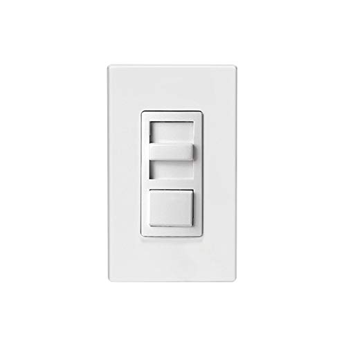 HUBBELL LIGHTING Preset Slide Dimmer PSD710-UNV-WVL, White with Ivory & Light Almond Color Change Kits