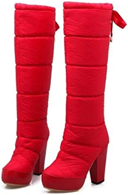 Top Shishang Winter Thick high Heel Down Fabric high Platform Thick Snow Boots Martin Boots