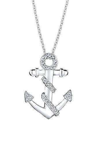 Elli Halskette Anker Meer Kristalle 925 Silber
