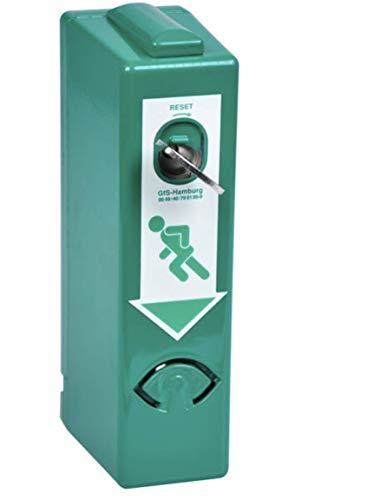GfS Einhand (EH)-Türwächter Gehäuse grün Profilhalbzylinder Türalarm Notausgang von MBS-FIRE®