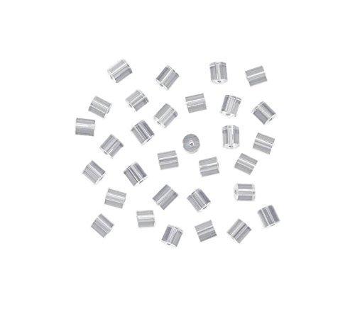 niceButy Ohrstecker-Verschluss für Ohrringe, rund, klein, hell, 144 Stück