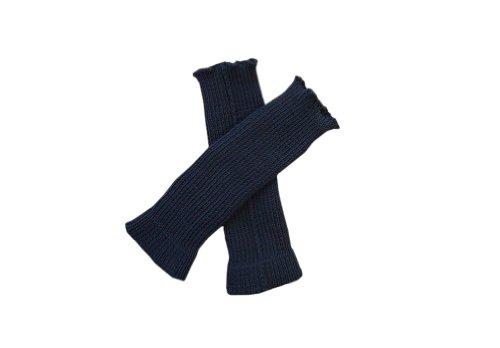 tevirP 100% Merino Wolle Baby Stulpen Beinwärmer Socken Gestrickt Tragriemen L Dark blue