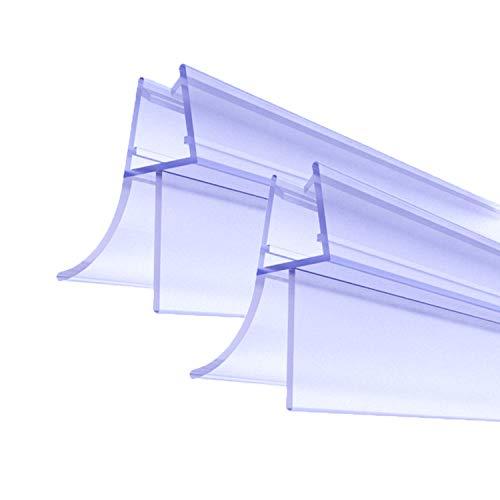 Premium Duschtür Dichtung 2 x 100 cm - Mit verlängerten Gummilippen für trockenen Boden im Bad - Glastür Duschdichtung für 5mm, 6mm, 7mm, 8mm Glasdicke - Duschleiste für Duschkabine mit Wasserabweiser