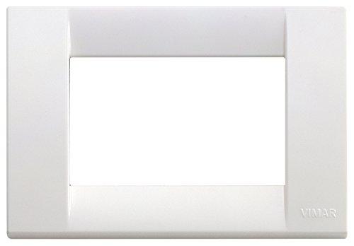 VIMAR 16743.01 Idea Placca Classica 3 moduli in tecnopolimero, bianco brillante