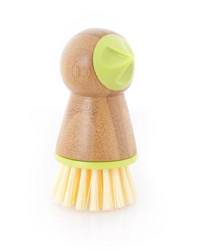 Full Circle Tater Mate, Bamboo Potato Brush with Eye Remover, Green