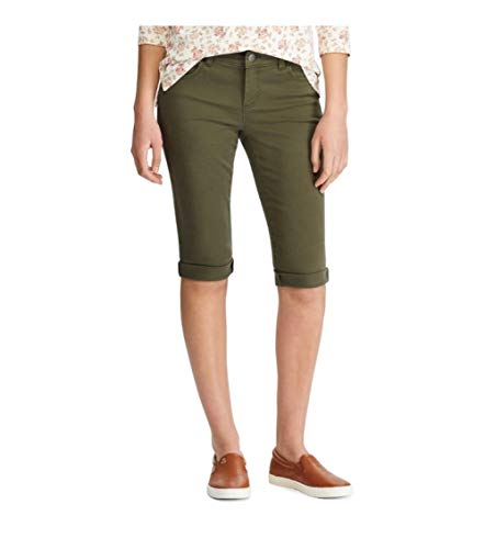 Chaps Cuffed Bermuda Shorts, Size 6 Green