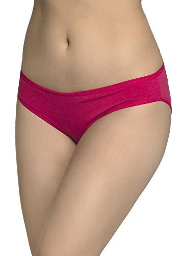 Inner Sense Organic Cotton Antimicrobial Women's Bikini Panty Fuchsia