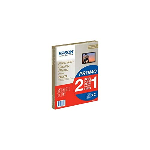 Epson C13S042169 Super Carta Fotografica Lucida, 2 x 15 fogli, 21 x 29.7 cm